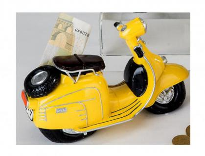 formano nostalgische Spardose Sparbüchse Roller, gelb, 16 cm