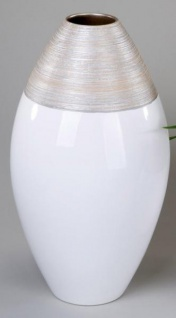 formano Vase in Champagner Creme aus Keramik, 40 cm