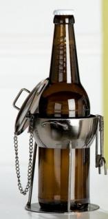 GILDE Bierflaschenhalter aus lackiertem Metall, 13, 5 x 13, 5 x 15 cm