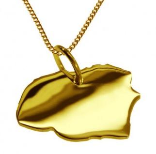 FÖHR Kettenanhänger aus massiv 585 Gelbgold mit Halskette