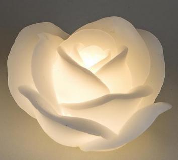 formano Dekokerze Rose mit LED 11 cm