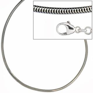 Schlangenkette 925 Silber 1, 6 mm 50 cm Halskette Karabiner