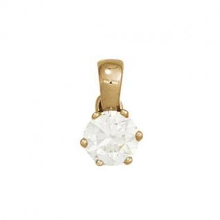 Anhänger 585 Gold Gelbgold 1 Diamant Brillant 0, 10ct. Solitär