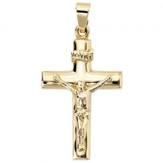 Anhänger Kreuz 333 Gelbgold Kreuz Anhänger