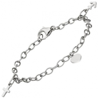 Armband Glaube Liebe Hoffnung 925 Sterling Silber 16 cm Silberarmband