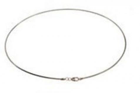45 cm Omega Halsreif - 333 Weißgold - 1, 2 mm Halskette