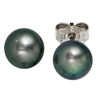 Ohrstecker 925 Sterling Silber 2 Süßwasserperlen Perlen