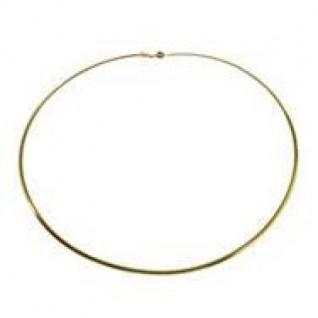 42 cm Omega Halsreif - 750 Gelbgold - 0, 8 mm Halskette