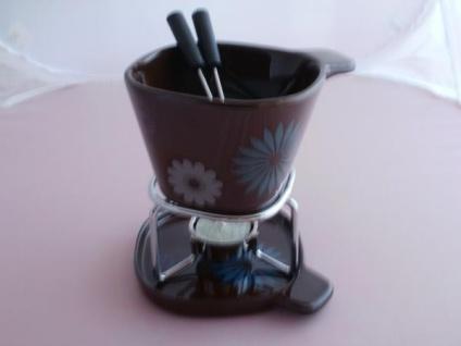 Fondue-Becher-Set flower aus Keramik - Vorschau 4