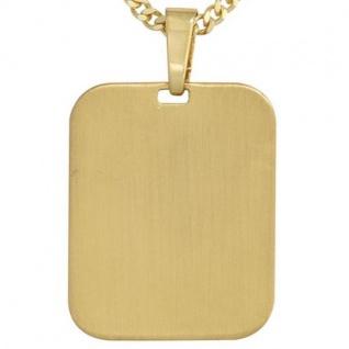 Anhänger Gravur Gravurplatte 333 Gold Gelbgold mattiert
