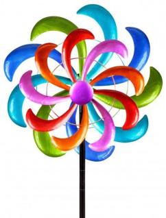 Windrad für den Garten aus Metall lila/blau/rot/grün 166 cm