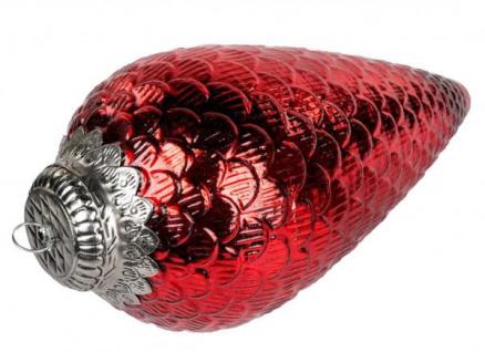 formano Dekohänger Zapfen aus Glas antik rot 30 cm