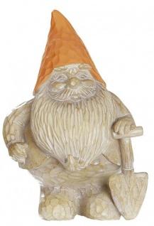 Gartenzwerg mit Schaufel und Mütze Deko Figur-Garten 20 cm