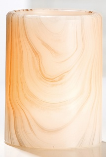 GILDE Echtwachs LED Kerze im Holzstil, 12 x 7 cm - Vorschau