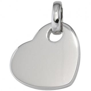 Anhänger Herz 925 Sterling Silber rhodiniert Herz-Anhänger