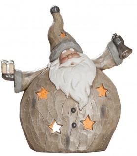 Windlicht Santa, 16x37x42 cm