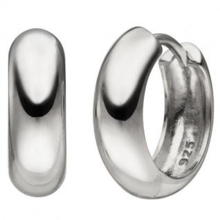 Creolen 925 Sterling Silber 14, 9 mm Silbercreolen Silberohrringe