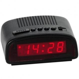 Atlanta 155/7 Wecker Netzwecker digital schwarz rot mit Snooze