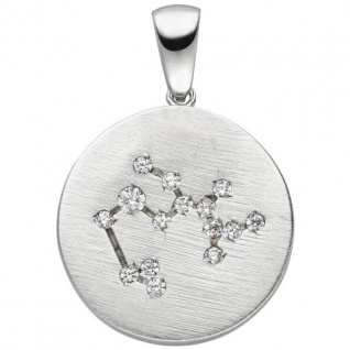 Anhänger Sternzeichen Schütze 925 Sterling Silber matt 15 Zirkonia