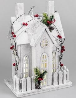 Beleuchtetes Winterhaus mit LED, 28 x 40 cm