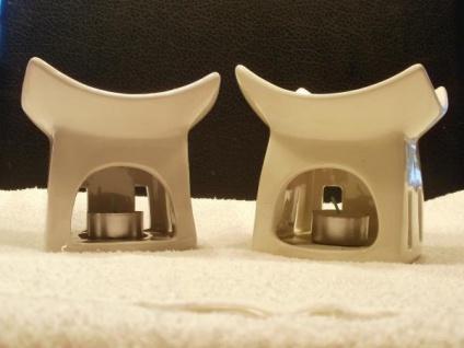 2 Duftlampen Asia aus Keramik, 10 cm