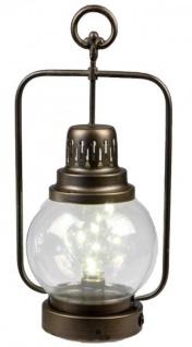 Trendige Laterne im nordischen Stil mit LED Beleuchtung 19x12x38 cm