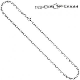 Ankerkette Edelstahl 60 cm Halskette Kette Karabiner 4, 3 mm breit