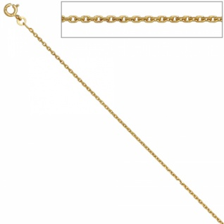 Ankerkette 333 Gelbgold diamantiert 1, 6 mm 60 cm Halskette Federring