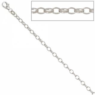 Ankerkette 925 Silber 3, 0 mm 70 cm Halskette Silberkette Karabiner
