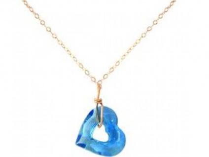 Halskette Anhänger Rose vergoldet Herz WITH SWAROVSKI ELEMENTS®