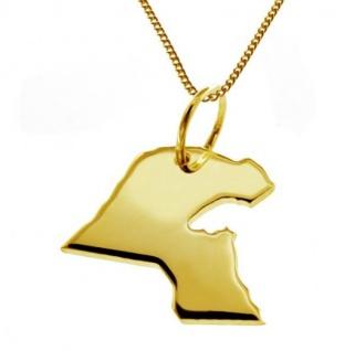 KUWAIT Kettenanhänger aus massiv 585 Gelbgold mit Halskette