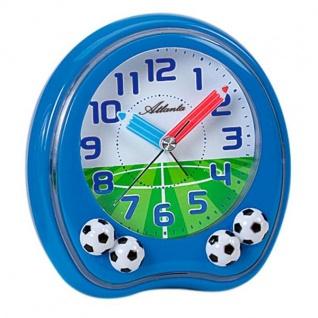 Atlanta 1719/5 Wecker Kinderwecker Fußball blau Fußballwecker