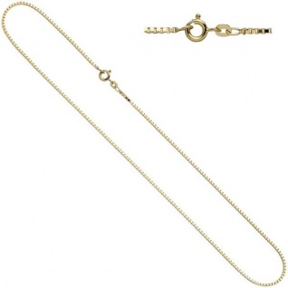 Venezianerkette 333 Gelbgold 1 mm 40 cm Halskette Federring