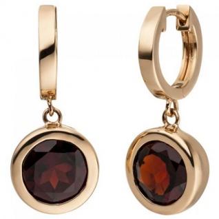 Ohrringe  Rotgold Granat 601//6