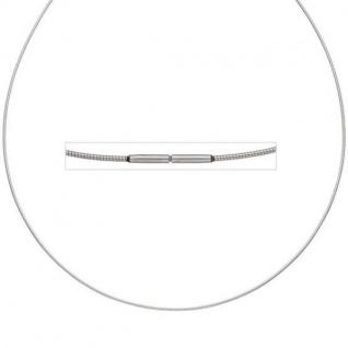 Halsreif Edelstahl 1, 0 mm 42 cm Halskette Kette