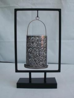 Kerzenhalter aus Metall und Glas, 30, 5 cm hoch