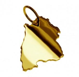 BADEN-WÜRTTEMBERG Kettenanhänger aus massiv 585 Gelbgold