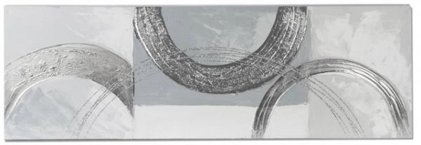 formano Wandbild aus Holz Halbkreise 30 x 90 cm