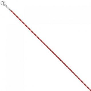 Rundankerkette Edelstahl rot lackiert 45 cm Kette Halskette Karabiner