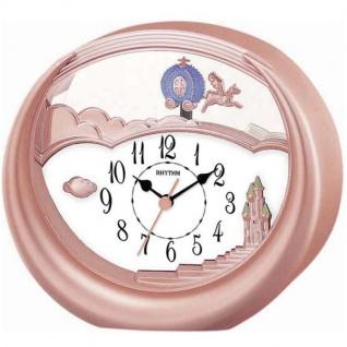 Rhythm 7719/18 Tischuhr Quarz mit Pendel rosa rosegold farben