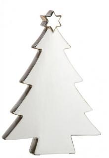 moderner Deko-Baum Weihnachtsbaum Weihnachtsdekoration Christbaum Keramikbaum Adventsdeko Tannenbaum silber gold Stern 23cm Christmas-tree