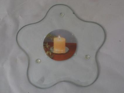 Kerzenteller Blume aus Glas 12 cm