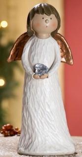 GILDE Dekofigur stehender Engel Heidi aus Polyresin, 4 x 6 x 11 cm