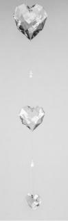 formano Fensterschmuck Herz Girlande aus Acryl klar, 82 cm