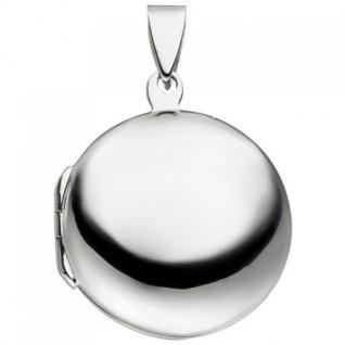 Medaillon rund zum Öffnen für 2 Fotos 925 Sterling Silber