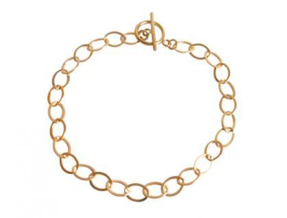 Damen Unisex Armband Vergoldet Ovale 19 cm