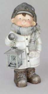 Formano Dekofigur Winterkind Olaf Mit Laterne In Weiß Silber 40 Cm