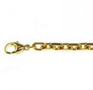 21 cm Ankerkette Armband - 333 Gelbgold - 3 mm