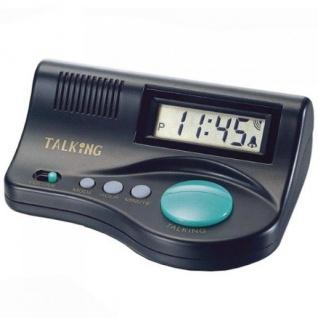 Atlanta 6695 Sprechender Wecker digital Lautstärkeregler Stundenansage