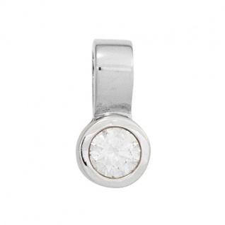 Einhänger Anhänger 585 Weißgold 1 Diamant Brillant 0, 15 ct.